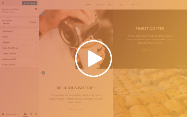 Video Course on Building a Coffee Shop Website