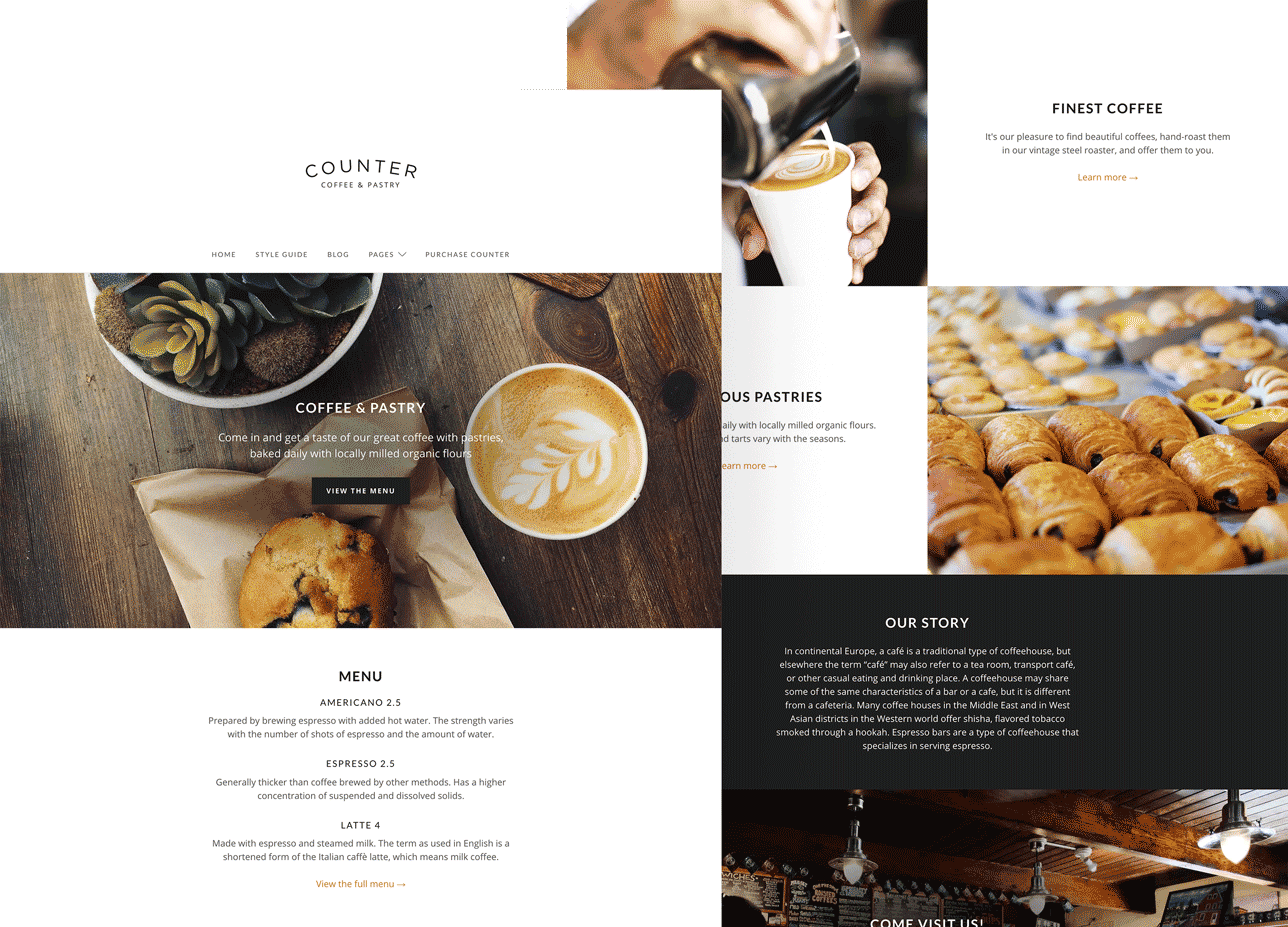 Counter – Minimal Business Theme for WordPress